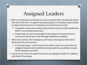 assigned leader