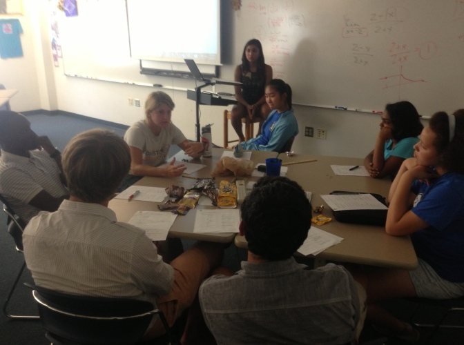 First meeting at Cary Academy- discussion and activity
