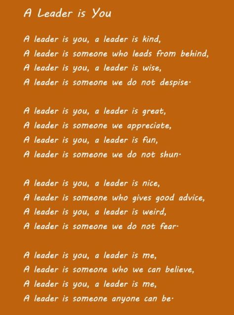 a leader is you